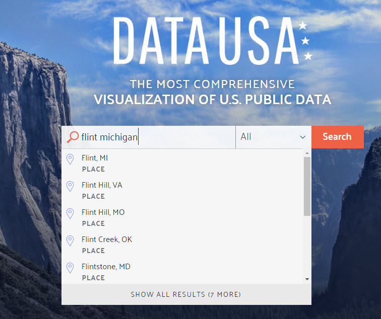 Data USA Search