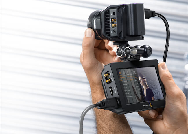 Blackmagic Micro Studio Camera 4K and Blackmagic Video Assist monitor and recorder