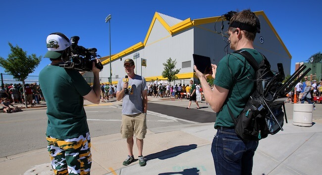 LiveX using cellular bonding at Packers training camp