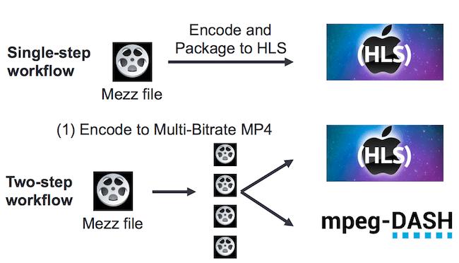 single vs. two-step encoding workflow