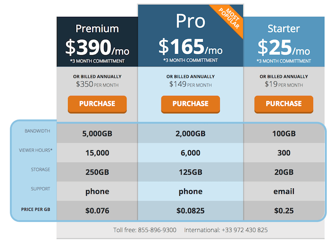 DaCast pricing model