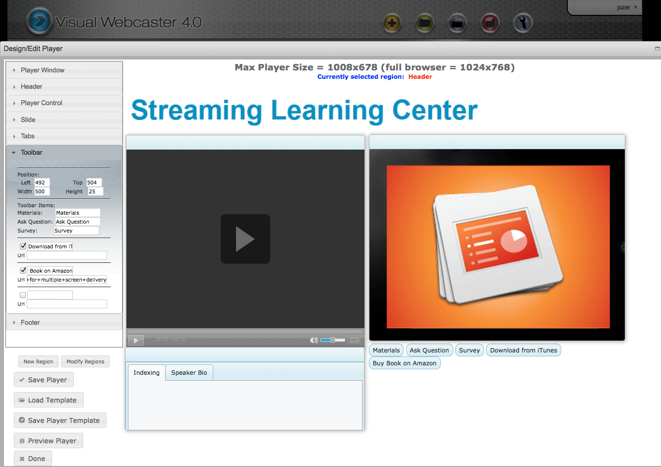 Onstream Visual Webcaster
