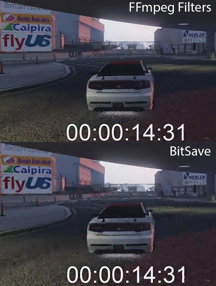 Ozer BitSave comparison