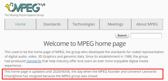 MPEG Closed