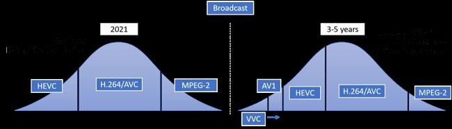 Broadcast formats and codecs