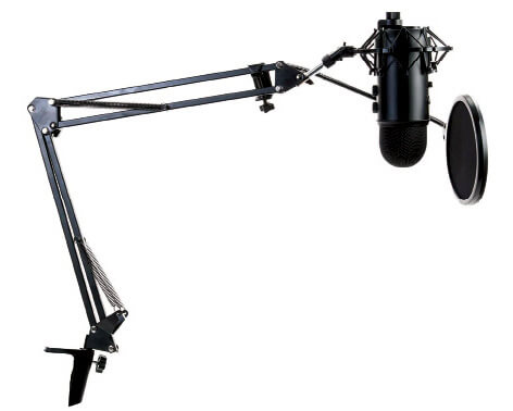 Microphone for screen captures and webcasts