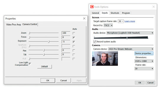 Configuring an audio device