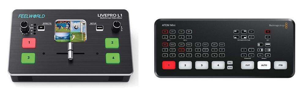 Feelworld LivePro L1 and Blackmagic Design ATEM Mini