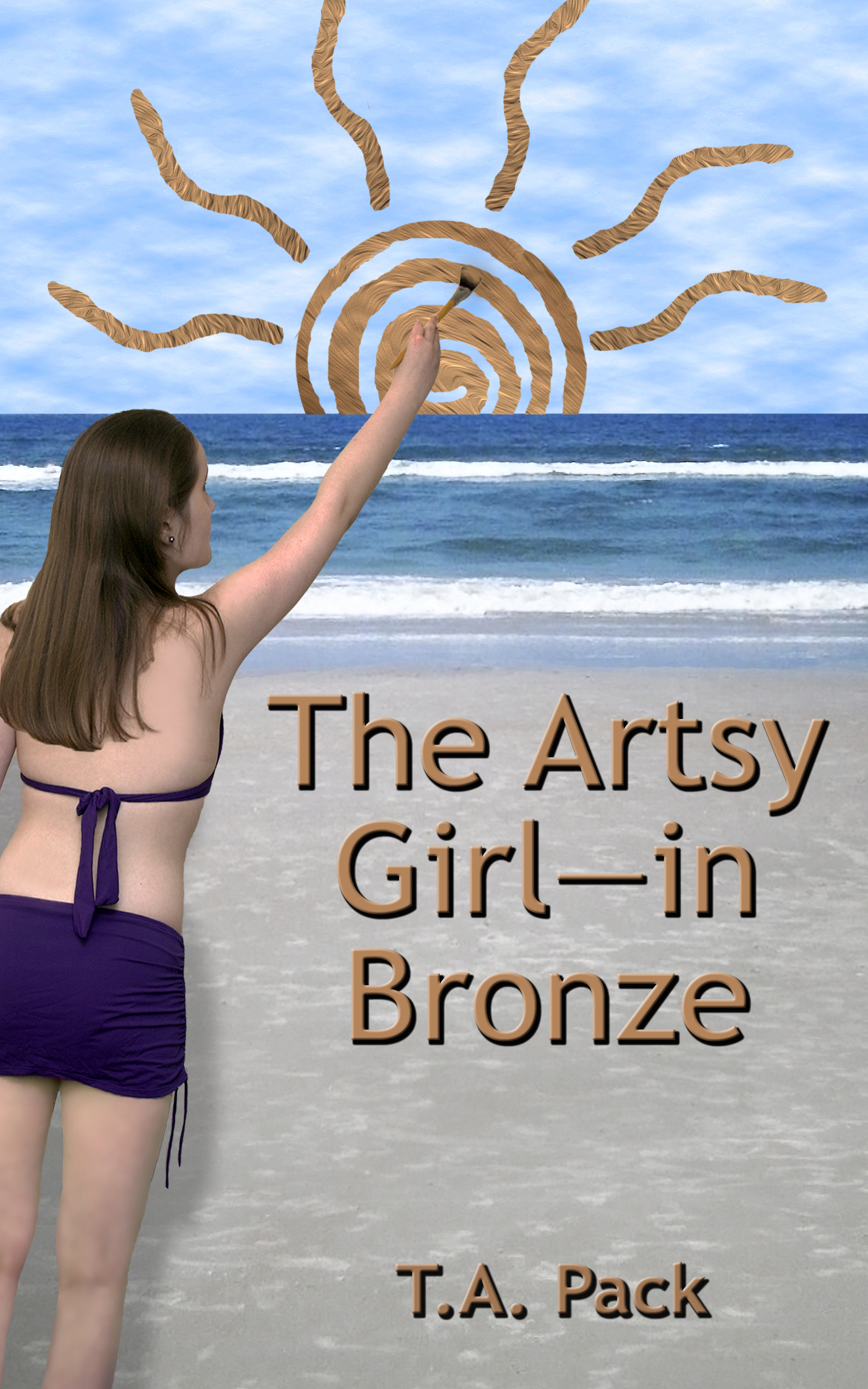 The Artsy Girl--In Bronze
