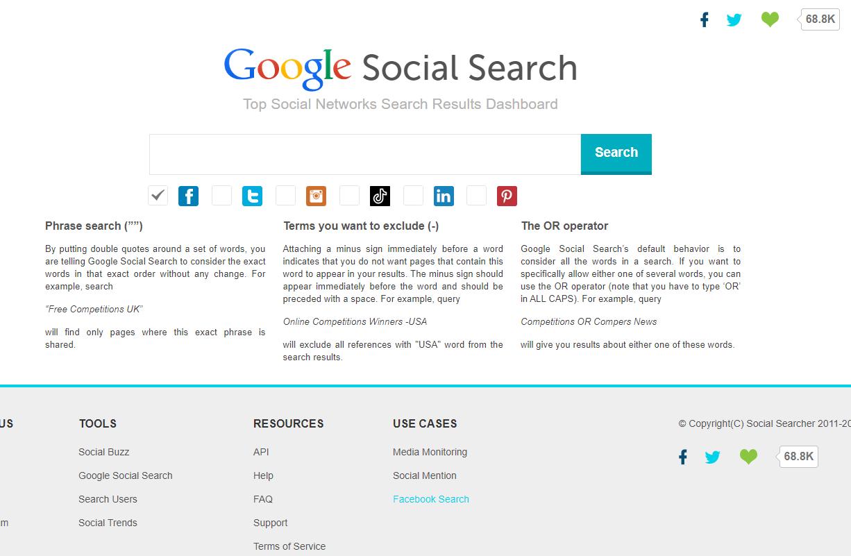 Google Social Search screenshot
