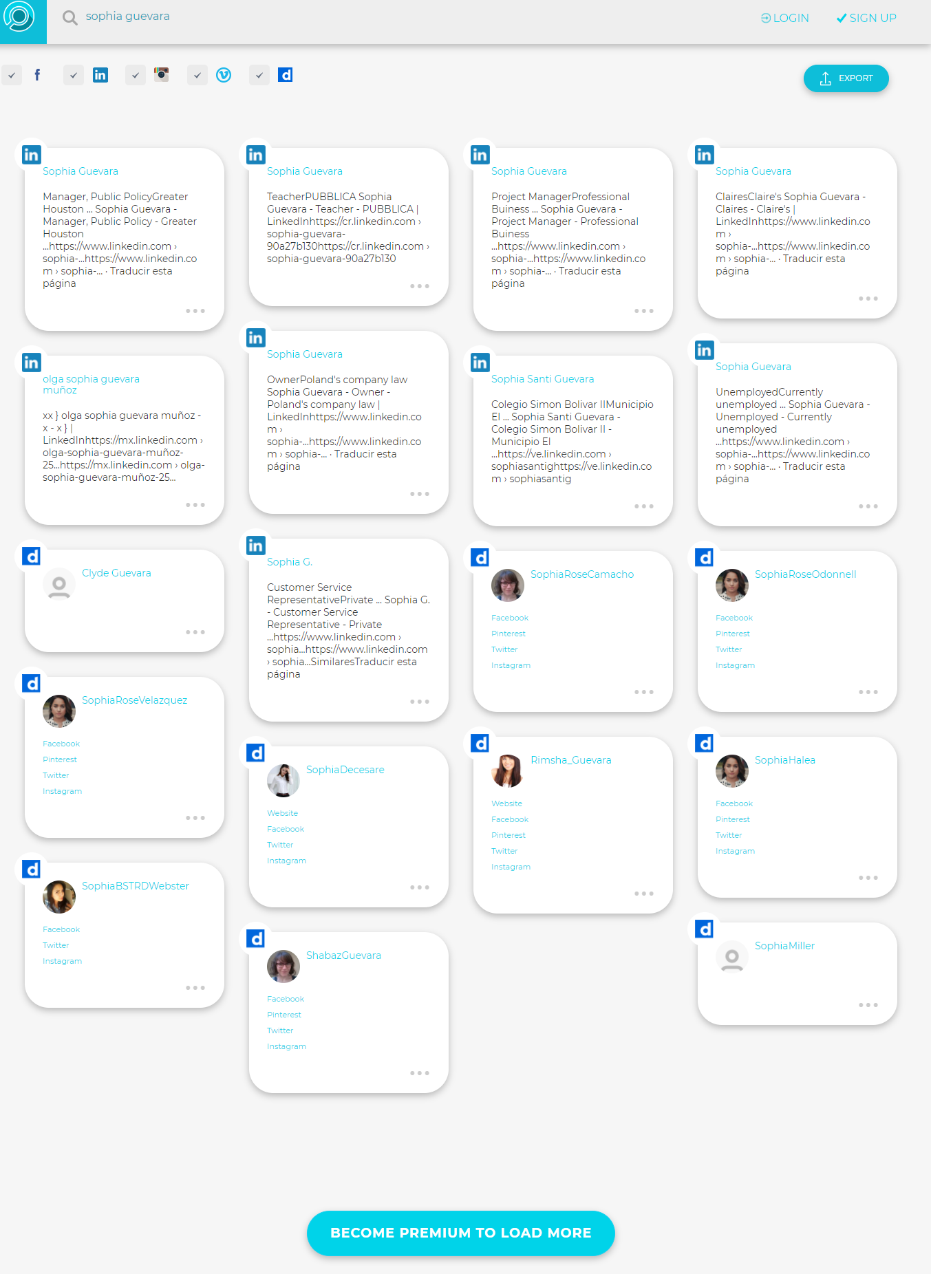 Search Users screenshot