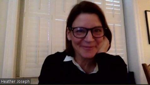 Heather Joseph speaking at NISO Plus