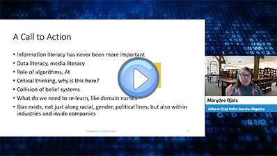 How Information Professionals Can Fight Search Bias video clip; click here