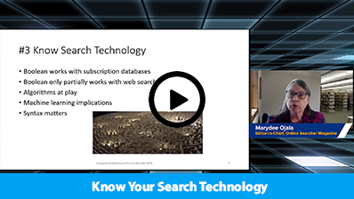 Know Your Search Technology video clip