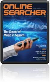 Online Searcher digital edition cover