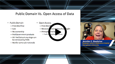 Public Domain vs. Open Access of Data video clip