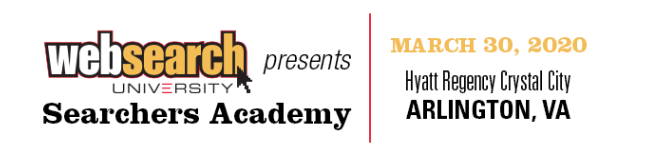 WebSearch University Presents Searchers Academy March 30, 2020