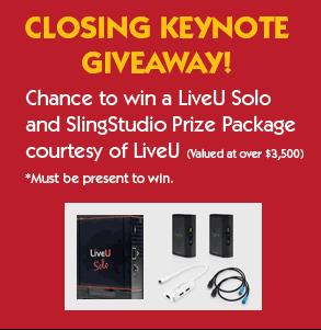 Closing Keynote Giveaway